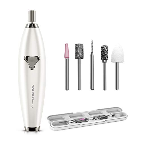 Electric Nail Files, 6 in 1 Portable Nails Dril Machine for Acrylic Nail Gel Nail Exfoliating Polishing, Adjustable Speed Manicure Pedicure Machine with Storage Box