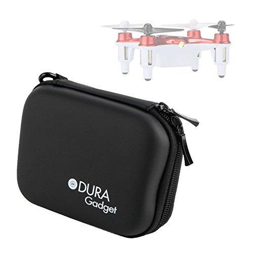 DURAGADGET Syma Quadcopter Drone Case Premium Quality Black Hard EVA Shell Case / Box with Carabiner Clip & Twin Zips for the Syma X12 Nano Rojo 6-Axis Gyro 4CH RC Mini RTF Quadcopter