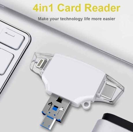 Ingelon SD Card Reader de Memoria sd Micro Adapter Carte sd Type C OTG Memory Cardreader for adaptador iPhone Samsung MacBook