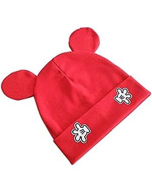 Korean Style Kids Skullies Baby Boy Girl Cute Mickey Ears Warm Beanies Cap