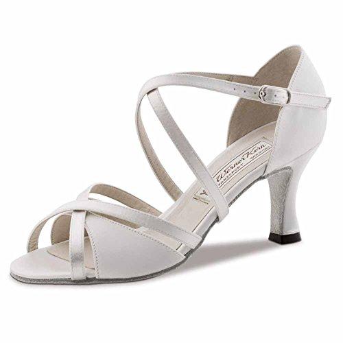 Werner Kern–Zapatos de baile para mujer July 6,5, Satin Weiß, 36 EU