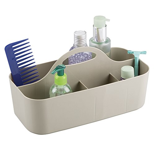 mDesign Bathroom Shower Caddy Tote for Shampoo, Soap, Razors