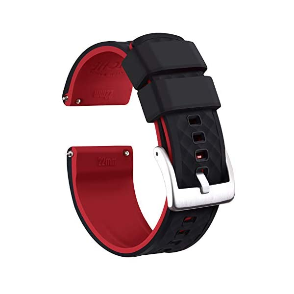 Ritche Silicone Watch Bands 18mm 20mm 22mm Quick Release Rubber Watch Bands for Men...
