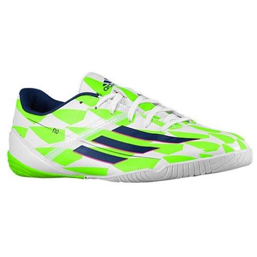410fe1d71af8 Galleon - Adidas Men's F10 In (Messi) Indoor Soccer Shoe, 12.0 D(M) US,  White/Blue/Green