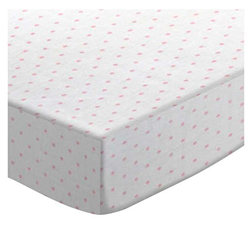 SheetWorld Fitted Pack N Play (Graco) Sheet - Pink Pindot Jersey Knit - Made In USA by SHEETWORLD.COM