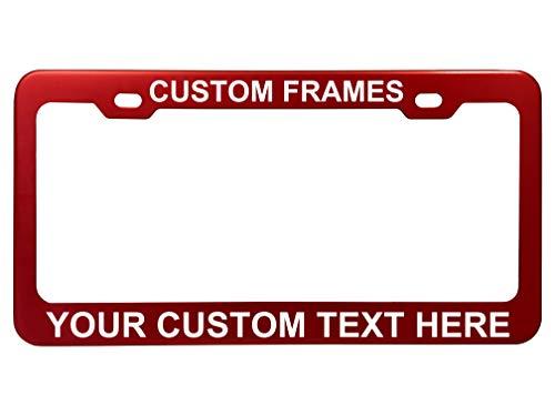 (GoPlates Customized License Plate Frame Laser Engraved -)