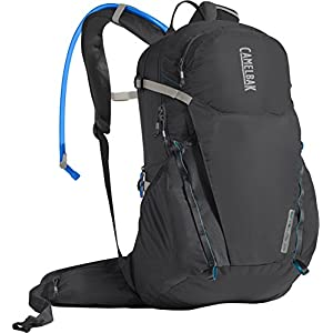 CamelBak Rim Runner 22 Crux Reservoir Hydration Pack, Charcoal/Grecian Blue, 2.5 L/85 oz