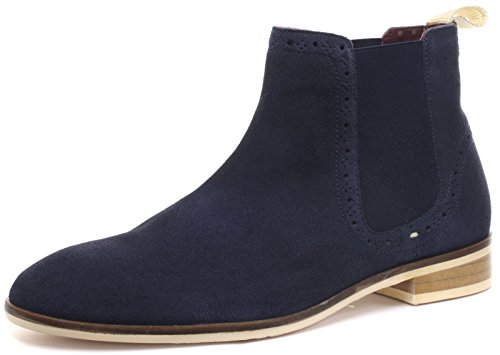 Suede London bottes off White Chelsea Brogue Richelieus Homme Croxley Sole Navy 0xnrfaA1xw