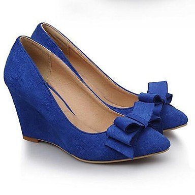 Borgoña Mujer 4 3 EU34 Nubuck Cuero 5 Sonrojarse US4 Azul 3A Confort 3 Negro 5 UK2 4 Rosa RTRY Primavera Pulg Tacones De CN33 2 Casual 5q16xXnH0w