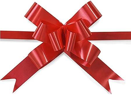 SHATCHI - Lazos de cinta de 30 mm y 3 cm para pared de fiestas, envoltorios de regalo, árboles de Navidad, bodas, cestas de cumpleaños, decoración floristería, 30 unidades, color rojo