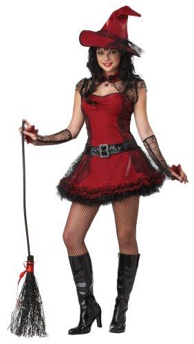 [California Costumes Mischievous Witch Teen Dress, Red/Black, 7-9 Costume] (Mischievous Witch Adult Costumes)
