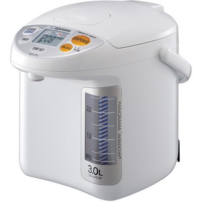 (Zojirushi CD-LFC30 Panorama Window Micom Water Boiler and Warmer, 101 oz/3.0 L, White)