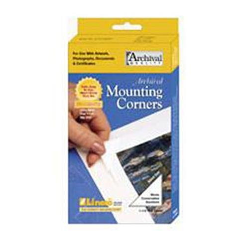 Lineco Self-Adhesive Polypropylene Mounting Corners - 1.25'' Clear (250/Pkg.) by Lineco