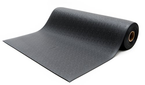 Bertech Anti Fatigue Vinyl Foam Floor Mat, 3' Wide x 4' Long x 3/8'' Thick, Textured Pattern, Black (Made in USA) by Bertech