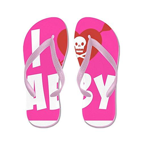 Cafepress I Love Abby - Flip Flops, Grappige String Sandalen, Strand Sandalen Roze