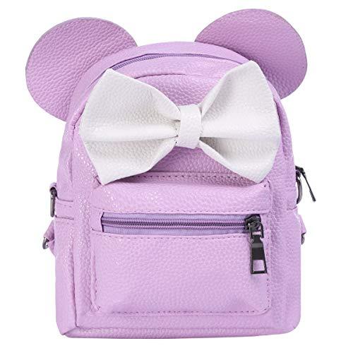 Minnie Backpack Bowknot Cute Travel Cartoon Mouse Ear School Shoulder Mini Bag for Kid Girls Teens Women
