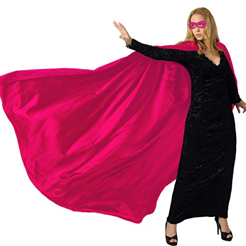 Men & Women's Superhero-Cape or Cloak with Mask for Adults Party Dress up Costumes (Rose)]()
