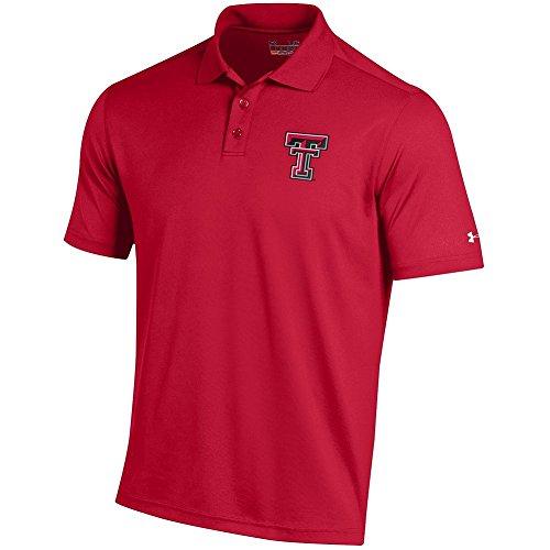 Elite Fan Shop Texas Tech Red Raiders Performance Polo Scarlet - L Texas Tech Fan Shop