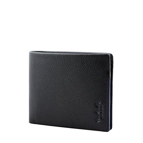 12x10cm A A Business Capacidad de Bloqueo Carteras Cuero Ventana Rfid 5x4inch Plegable Caso tarjeta Carteras Extra Elegante la Z71qTw6