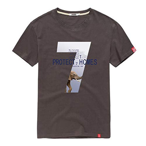 GLJJQMY Camiseta para Hombre Verano 2019 Nueva Ropa de Estudiante ...