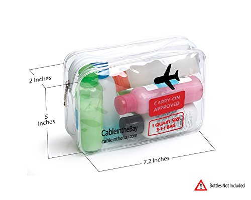 Tsa Approved Clear Travel Toiletry Bag Quart Sized With