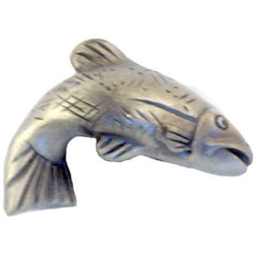 Knobs Drawer Fish (Sierra Lifestyles SL-681384 Pewter L Fish Cab Knob)