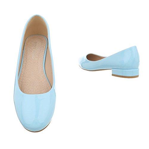 Bloc Bleue 8873 Ital Ballerines Classiques design Femme Lumière Chaussures IffvH6