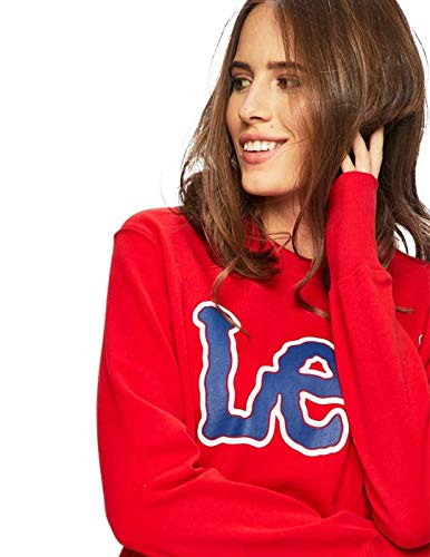 Sudadera Lee Rojo Sws Mujer Logo 7frxnqFwdf
