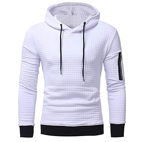 Sunhusing Mens' Dark Plaid Long Sleeve Hoodie Sweatshirt Outwear Tops Drawstring Hooded Jacket Coat ()