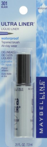Maybelline New York Ultra-Liner Liquid Liner, Waterproof, Black 135L-01 , 0.25 fl oz (7.3 ml)