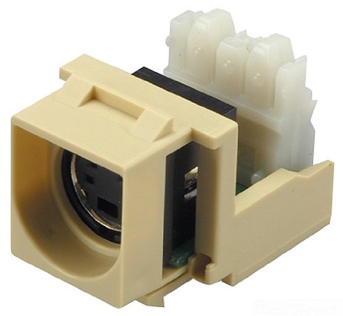 Allen Tel AT32VD-09 S-Video Punchdown Module, Ivory, 1 Port, Termination 22 To 26 AWG