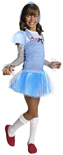 Little Girl Tutu Scarecrow Costumes - Rubies Wizard of Oz Dorothy Hoodie Dress Costume, Child