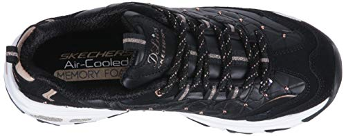 Gold floral Rose Days Black Baskets Femme D'lites Skechers 0Yqgw5w