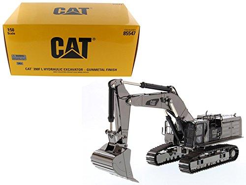 Diecast Masters CAT Caterpillar 390F L Hydraulic Tracked Excavator Gunmetal Commemorative Series 1/50 Diecast Model