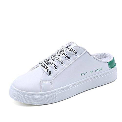 Casual Lace Cut Green frist Super up Canvas Color Low Solid Platform Womens Shoes Sneaker Izq40