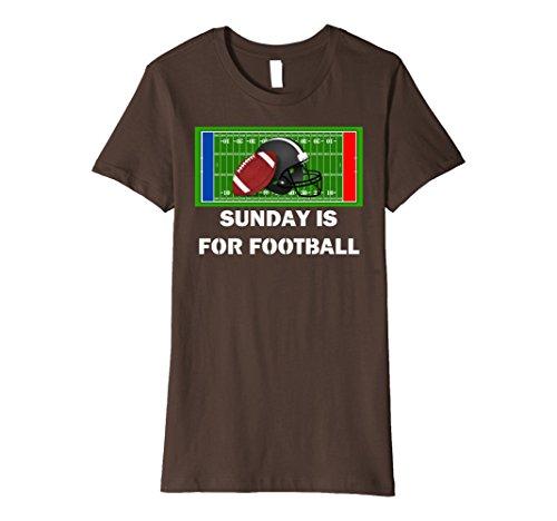 Womens Sunday Is For Football Helmet Field Game PREMIUM T-SHIRT XL Brown Field Womens Helmet
