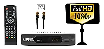 Digital Converter Box, RF Cable, Antenna, for Recording & Viewing Full HD Digital Channels for FREE Instant & Scheduled Recording, 1080P HDMI Out 7 Day Guide & LCD Screen