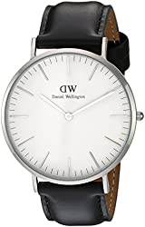 Daniel Wellington Men's 0206DW Sheffield Watch with Black Leather Band