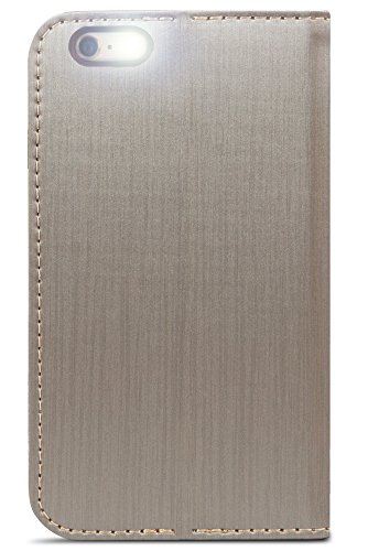 Moshi 99MO052242 Overture Wallet Case in titan für Apple iPhone 6 Plus