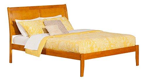 Atlantic Furniture AR8941004 Portland Platform Bed with Open Foot Board, Queen, ()
