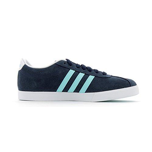 Adidas Donne Courtset Scarpe Da Ginnastica W, Nero Blu (maruni / Aquene / Ftwbla)