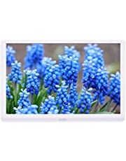 Kenuo Digital Photo Frame 10 Inch 1920x1080 High Resolution 16:9 Full IPS Display Digital Picture Frame Auto-Rotate Image Preview Electronic Picture Frame Video Calendar Clock Support SD Card,USB
