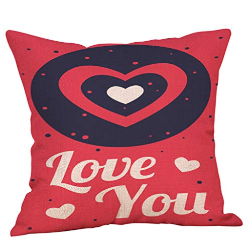 callm Happy Valentine's Day Throw Pillow Covers Minimalist Romantic Gift Love Quotes Cushion Cases Decorative for Couch Sofa -