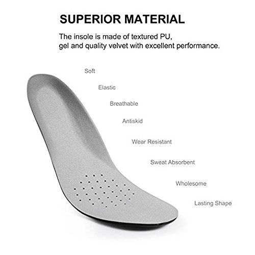 ESEOE Free Size Masaje Gel Plantillas Arco De Apoyo Deporte Unisex Zapatos Insertar Aliviar Su Feet Pain (1 Par)