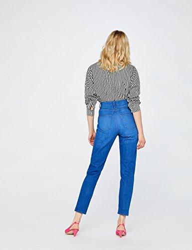 Vintage bright Vita Mom Donna Alta Find Jeans Blu Caviglia Alla A TOvfvHCqw