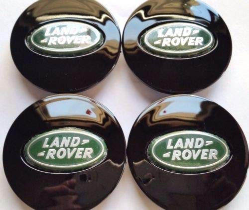 Land Rover, 4 X, Center Cap, HubCap, Black Oval, Green Chrome Logo, 63MM, 7