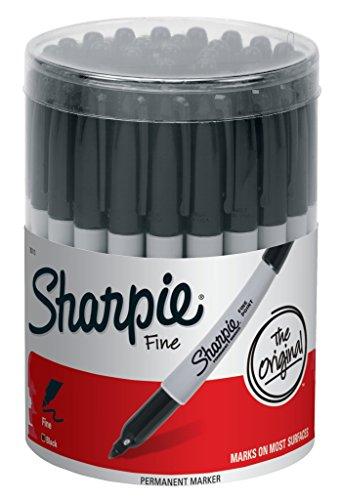 Marcador permanente Sharpie Fine Point, negro (Recipiente con 36 plumas)
