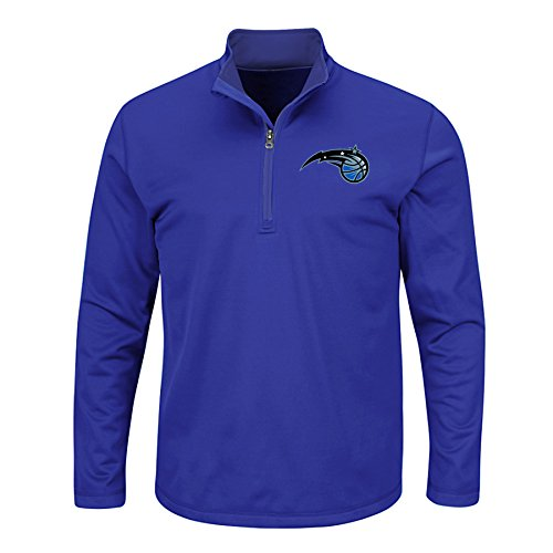 NBA Orlando Magic Men's B&T Team 1/4 Zip Birdseye Poly Shirt, X-Large/Tall, - B Orlando