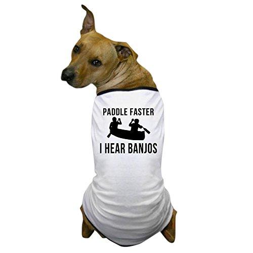 Hillbilly Wedding Costume (CafePress - Paddle Faster I Hear Banjos Dog T-Shirt - Dog T-Shirt, Pet Clothing, Funny Dog Costume)
