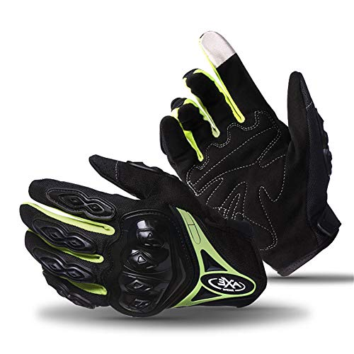 Driving Cycling Gloves-Touch Screen Gloves,Pro-Biker Mountain Bicycle Cycling Off-Road/Dirt Bike Gloves Road Racing Motorcycle Motocross Sports Gloves Full Finger Glove for Men and Women (Green)